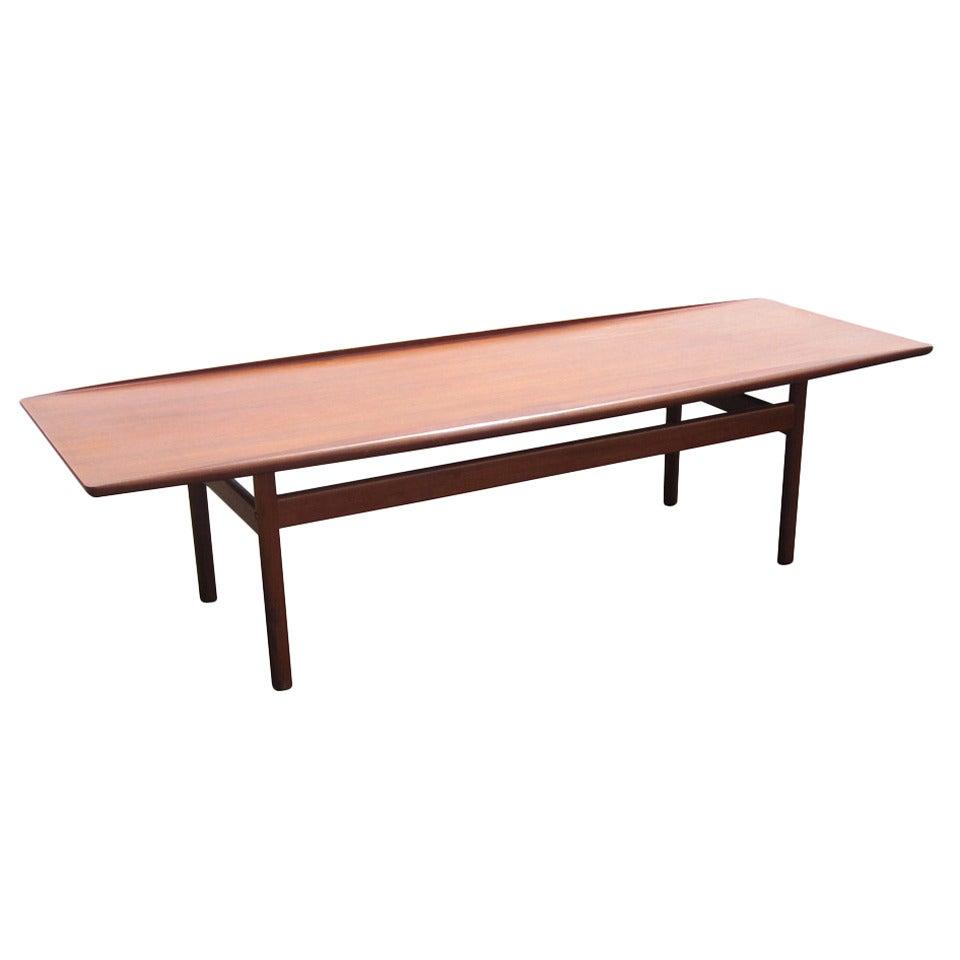 vintage danish teak coffee table designedgrete jalk at 1stdibs