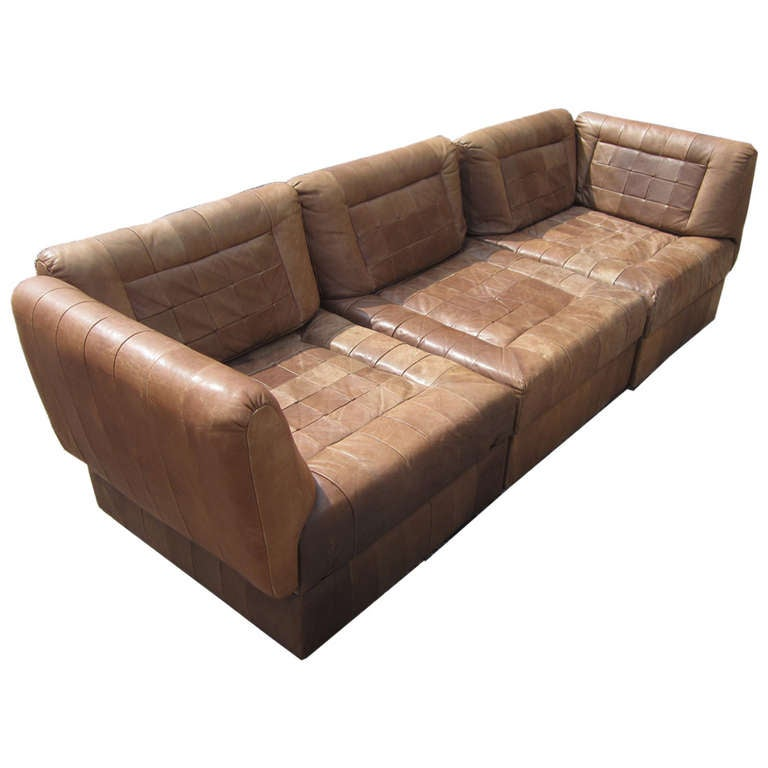 Modular Furniture Sofa: Modular Leather Sofa Closeout Fabrina 6 Pc Leather Modular