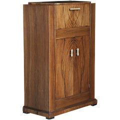 Vintage Art Deco, Walnut Cellarette Bar