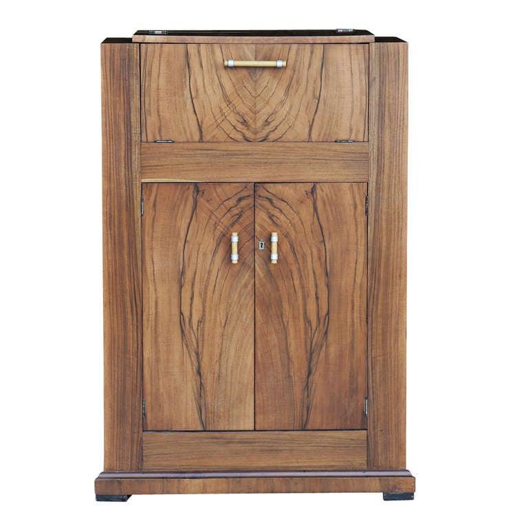 vintage art deco walnut cellarette bar at 1stdibs. Black Bedroom Furniture Sets. Home Design Ideas