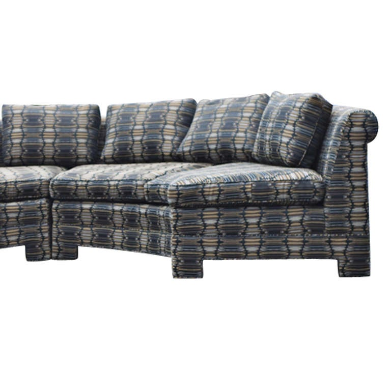 Vintage Milo Baughman Circular Sectional Sofa For Sale At 1stdibs