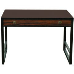 Edward Wormley for Dunbar Writing Desk in Rosewood and Mahogany