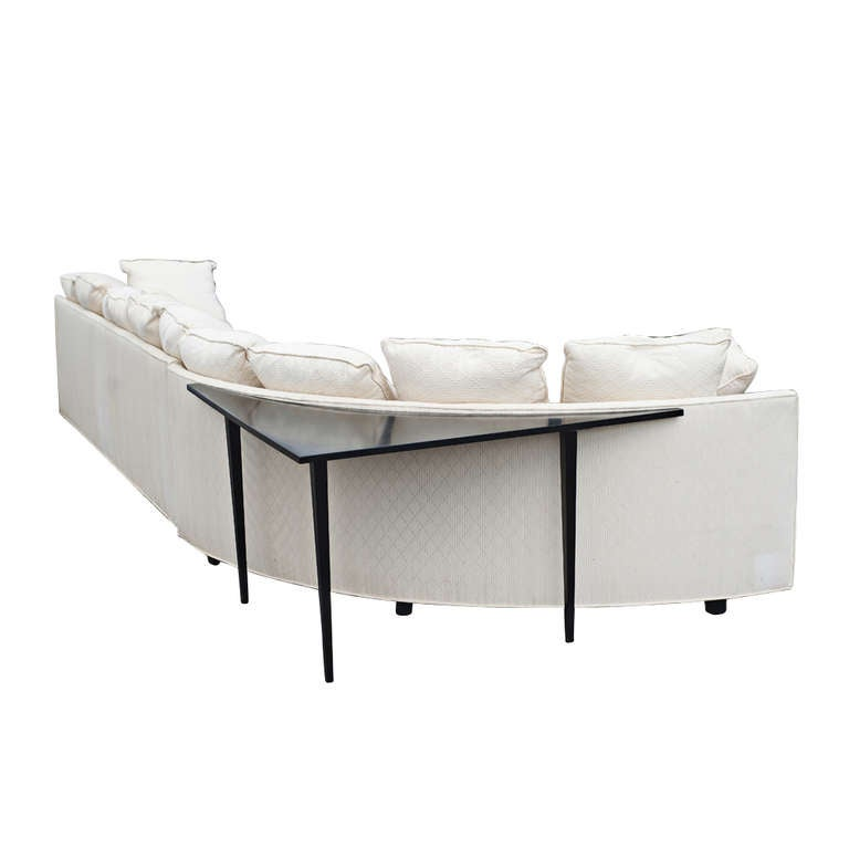 large two piece white sectional sofa with corner table at With sectional sofa with corner table