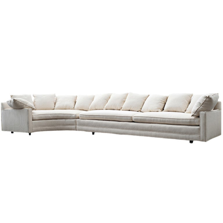 Large two piece white sectional sofa with corner table at 1stdibs large two piece white sectional sofa with corner table for sale watchthetrailerfo