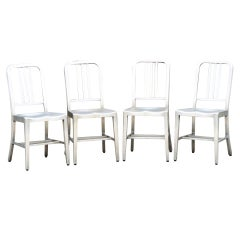 Four General Fireproofing Aluminum Side Chairs