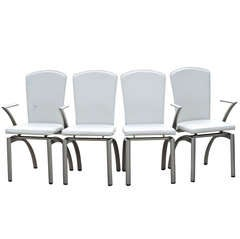 4 Frag Italian Leather Dining Chairs