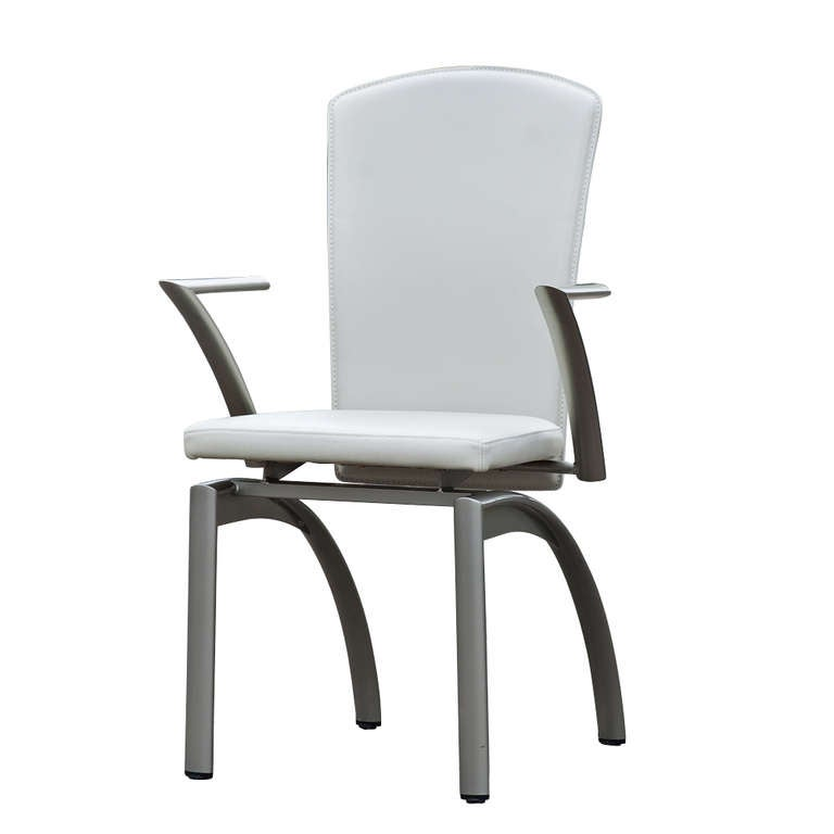 4 Frag Italian Leather Dining Chairs At 1stdibs