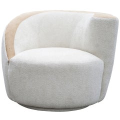 Vladimir Kagan Nautilus Lounge Swivel Chair
