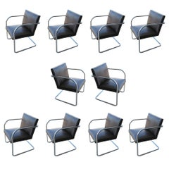 1 Thonet Mies van der Rohe Brno Chair With Embossed Leather