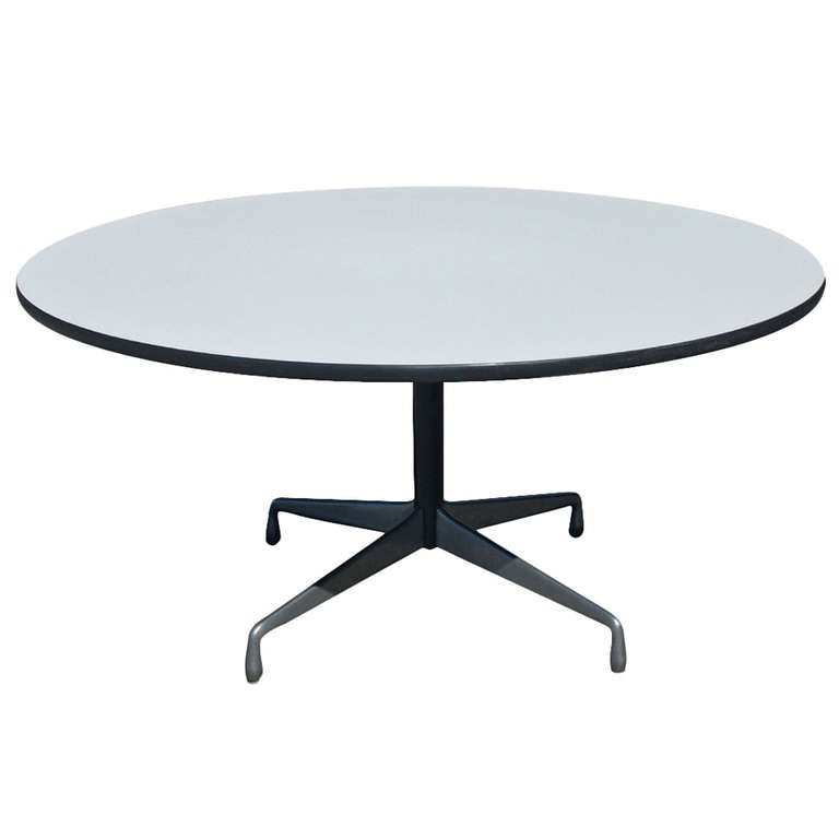 herman miller eames aluminum white laminate dining table at 1stdibs. Black Bedroom Furniture Sets. Home Design Ideas