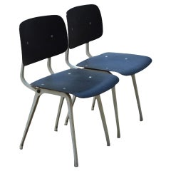Industrial Side Chairs in the Manner of Jean Prouve