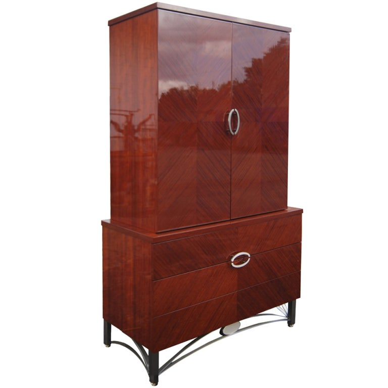 Contemporary Italian Mahogany Armoire At 1stdibs