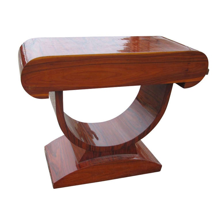 art deco style rosewood and burl console table 2 art deco style rosewood