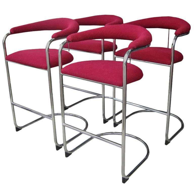 Anton lorenz for thonet set of four chairs at 1stdibs