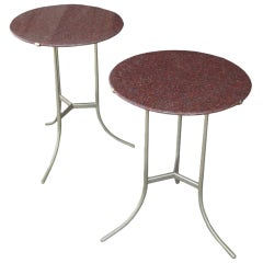 Cedric Hartman Pair of Granite Side Tables