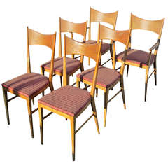 Paul McCobb for Calvin Furniture, Set of Six Chairs