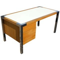 Thonet USA Oak and Chrome Desk