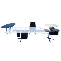 U-Shape Burdick Desk for Herman Miller with Floating Table