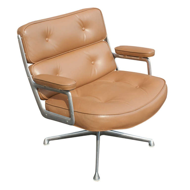 Eames Chair Leather charles eames for herman miller time life lounge leather chair and