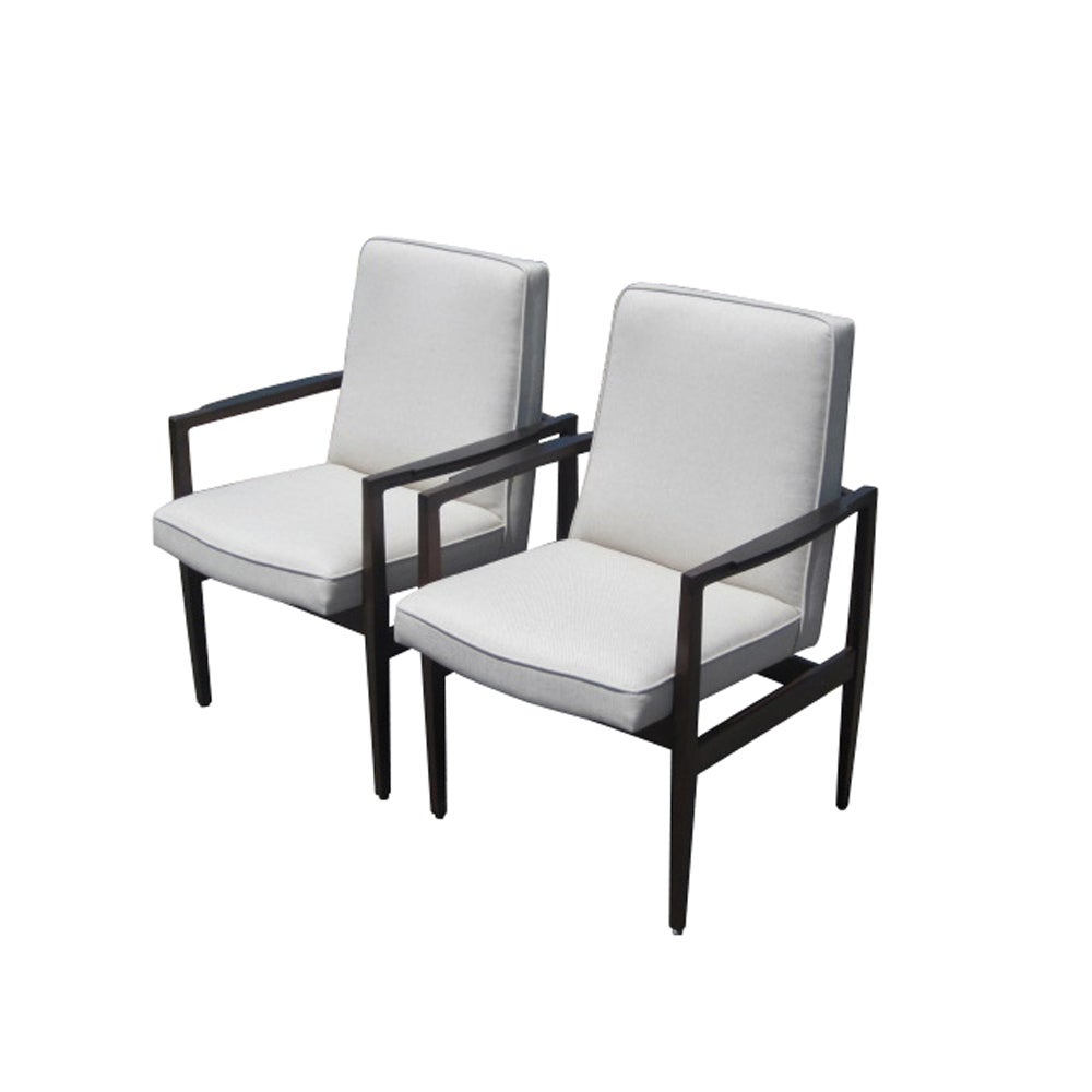 Pair of Jens Risom Style Arm Lounge Chairs