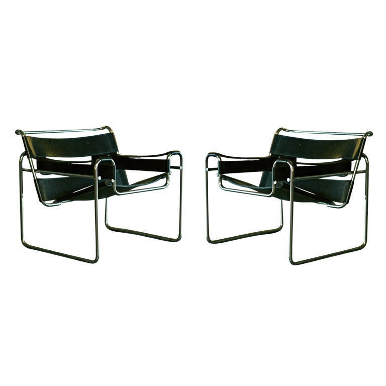 pair marcel breuer for knoll wassily chairs at 1stdibs. Black Bedroom Furniture Sets. Home Design Ideas