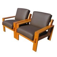 Pair of Modular Lounge Chairs designed by Esko Pajamies for Asko