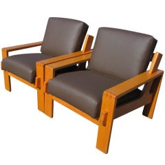 Pair of Thonet Modular Lounge Chairs
