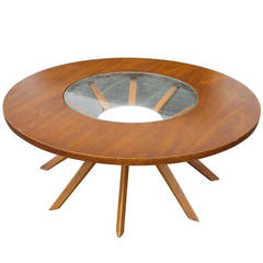 Vintage Brasilia Cathedral Coffee Table