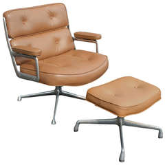 Charles Eames for Herman Miller Time Life Lounge Leather Chair and Ottoman