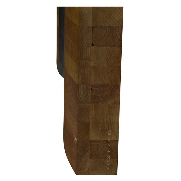 Minimalist Kevin O'Toole Wood and Metal Sculpture For Sale