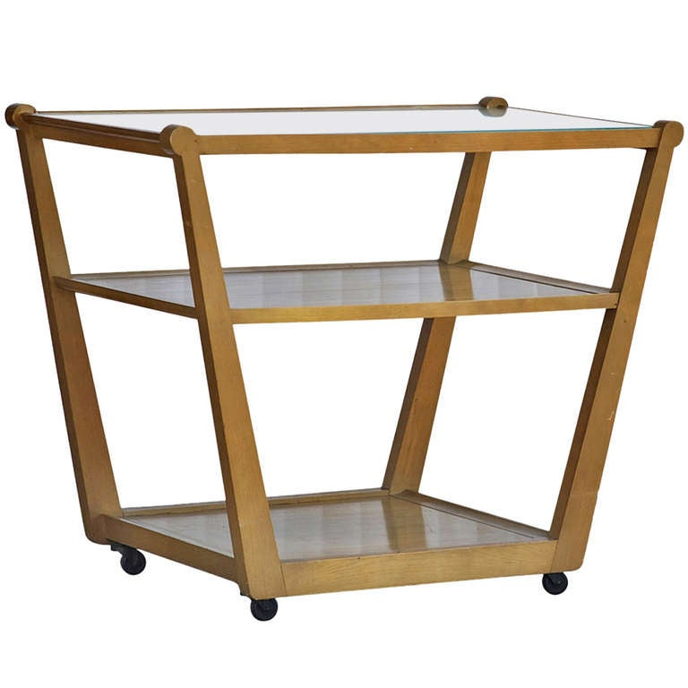 Edward Wormley For Drexel Precedent Rolling Bar Cart For