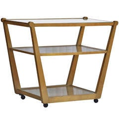 Edward Wormley for Drexel Precedent Rolling Bar Cart