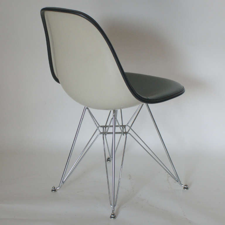 Twelve Herman Miller Eames Upholstered Fiberglass Padded Side Shell Chairs At