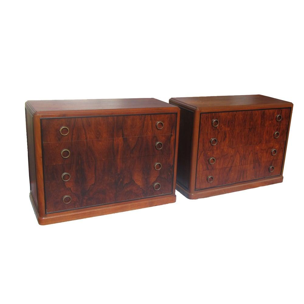 Art Deco Rosewood Nightstand Drawers