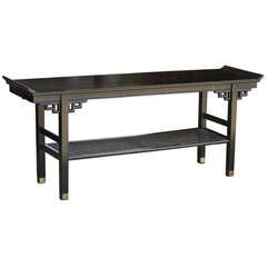 Ebonized Console Table in the Manner of James Mont