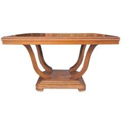 Art Deco Oak Parquet Dining Table