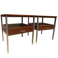 Vintage Pair of Night Stands by Paul McCobb for Calvin