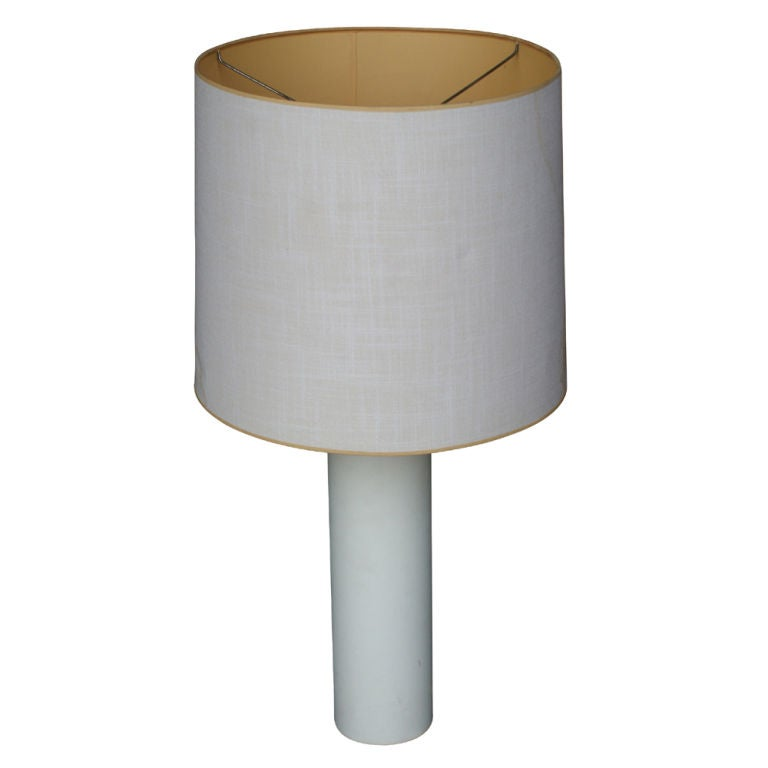 George Kovacs White Leather Table Lamp 1