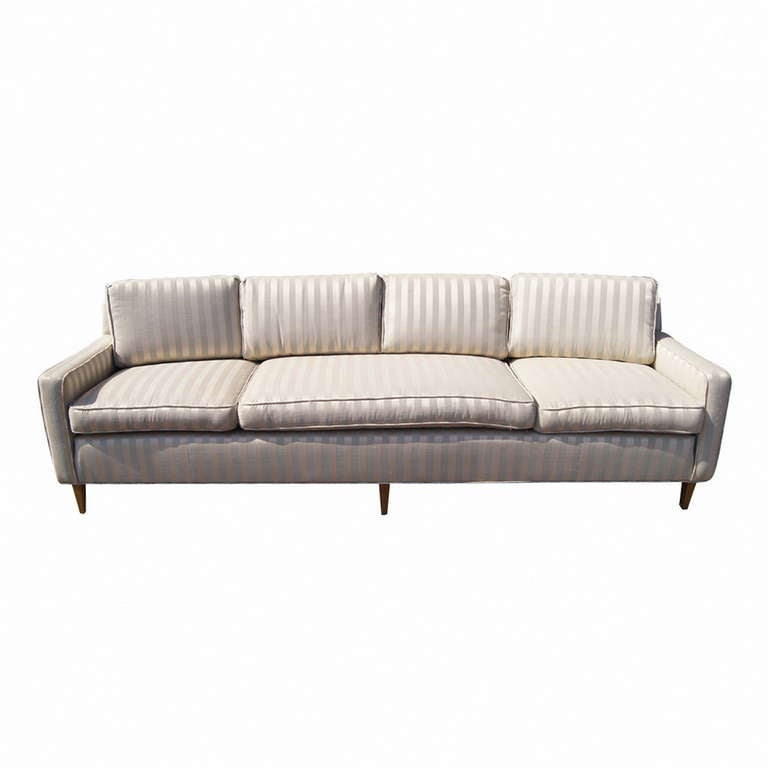 Large Curved Four Seater Sofa Couch For Sale At 1stdibs