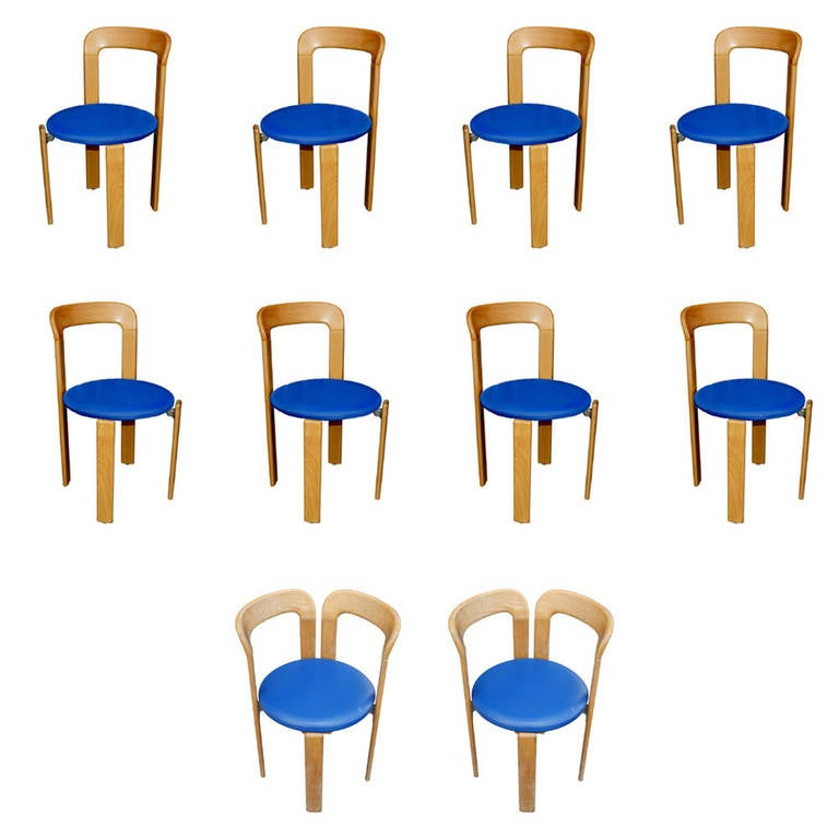 12 Bruno Rey for Stendig Stacking Chairs For Sale at 1stdibs