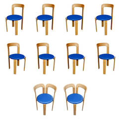 12 Bruno Rey for Stendig Stacking Chairs