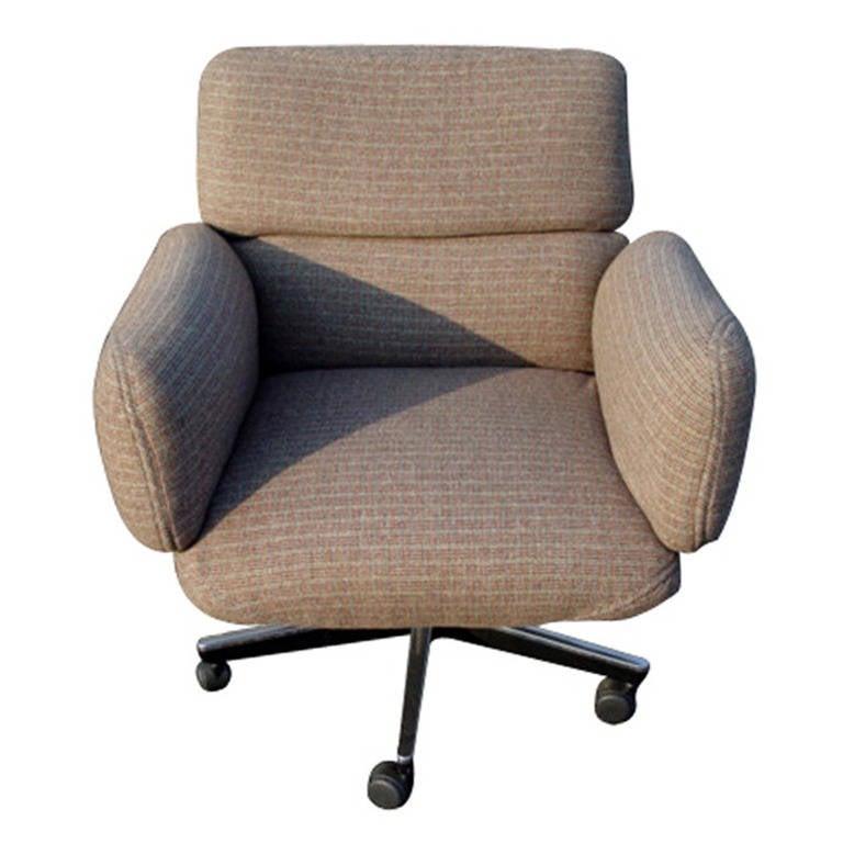 Mid-Century Modern Knoll Zapf Chair in Tweed Fabric