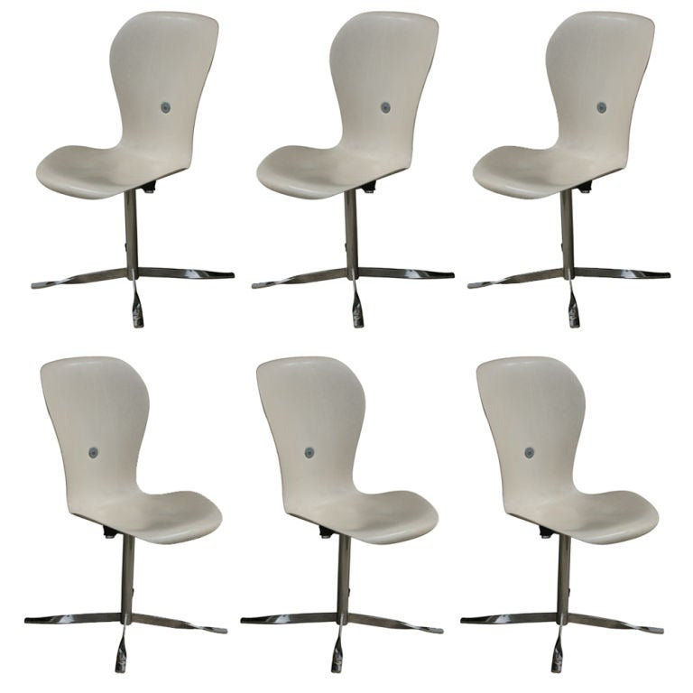 Six Ion Chairs By Gideon Kramer