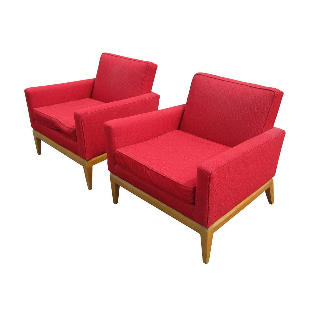 Pair Vintage Mid-Century Heywood Wakefield M1161G Lounge Chairs