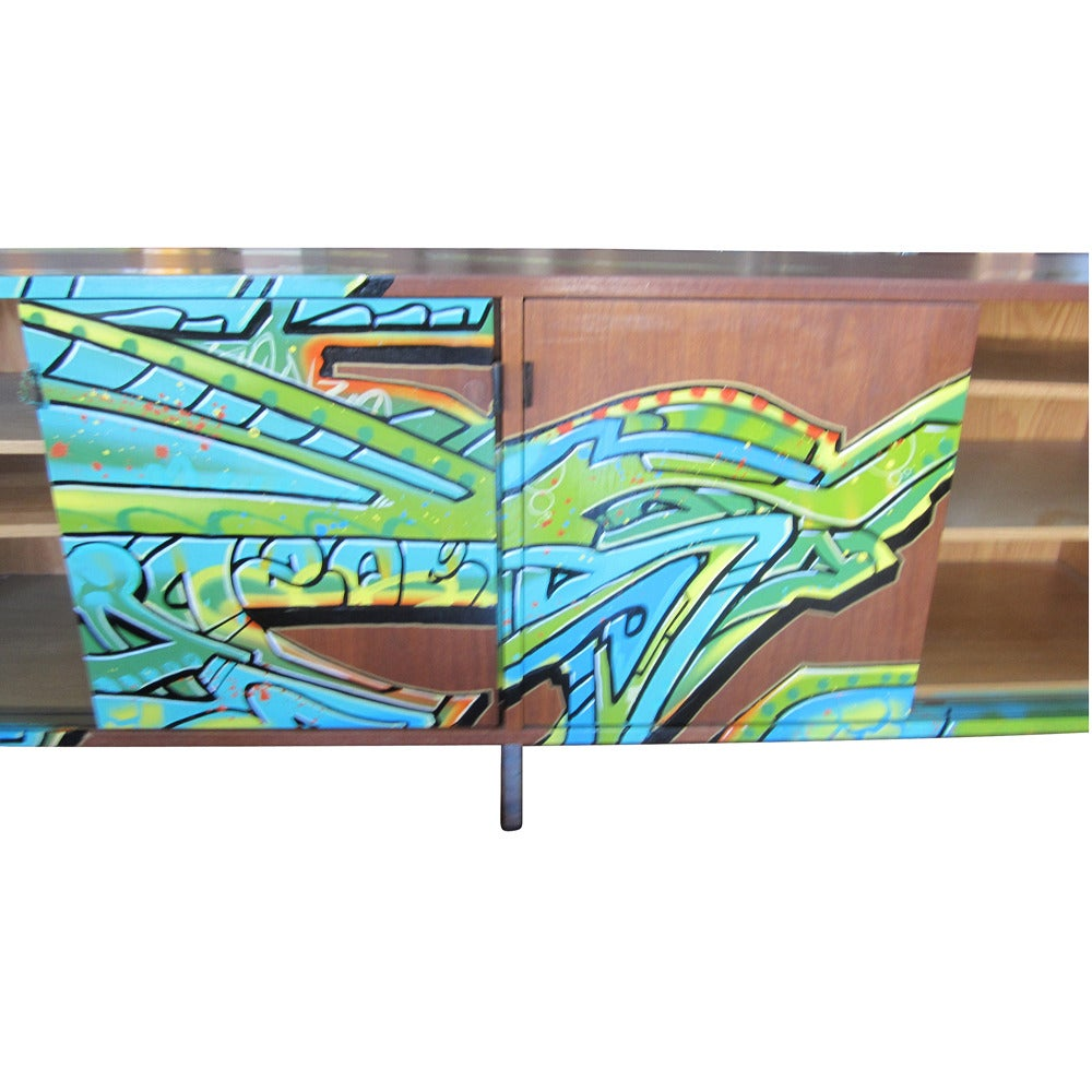 Houston Based Street Artist GONZO247 Collaborated With Metro Retro Furniture  To Create A Series Of