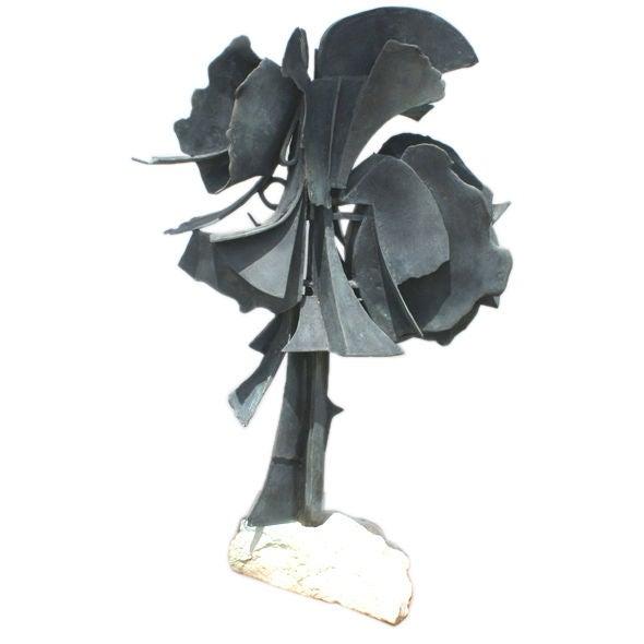 Edmond Casarella Abstract Bronze Sculpture