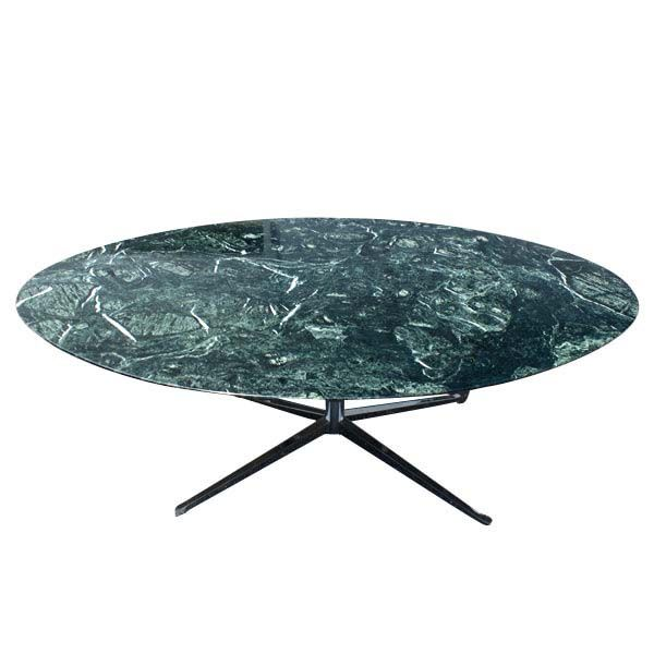 Florence Knoll For Oval Green Marble Dining Table Desk