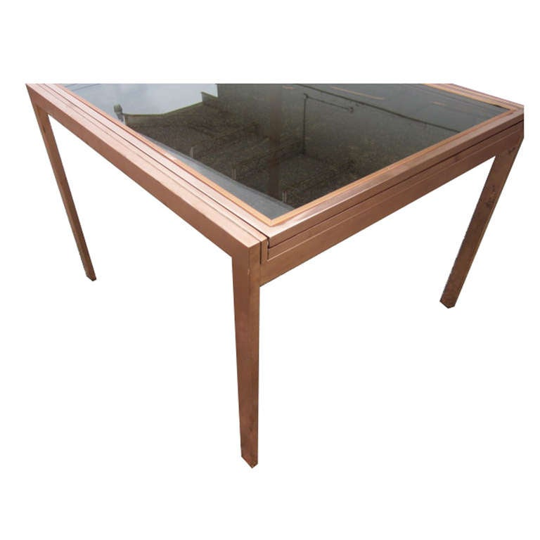 Dining Table Milo Baughman Glass Dining Table