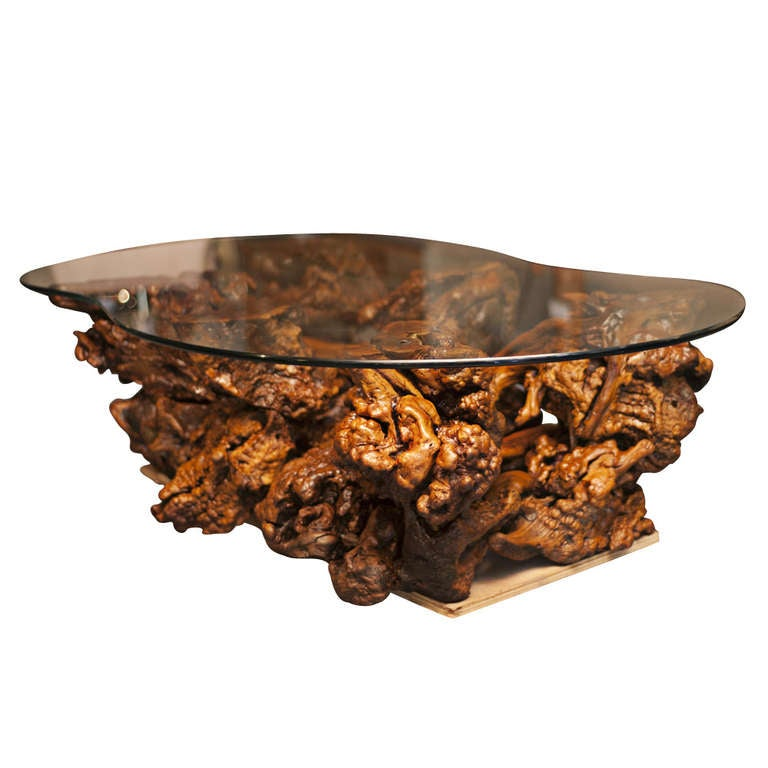 vintage hawaiian wood burl coffee table 60 off original. Black Bedroom Furniture Sets. Home Design Ideas