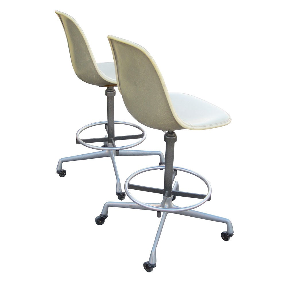 Vintage eames for herman miller architect drafting stools at 1stdibs - Vintage herman miller ...